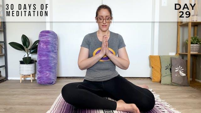 30 Days of Meditation - Day 29