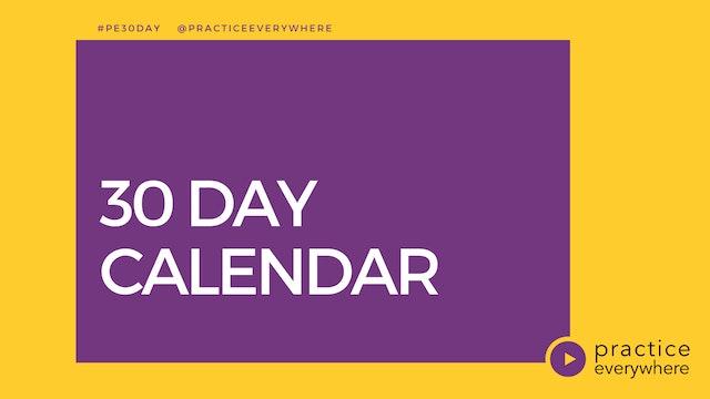 CALENDAR 30-Day