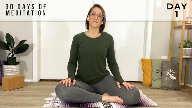 30 Days of Meditation - Day 1