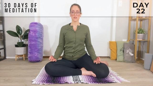 30 Days of Meditation - Day 22