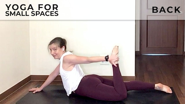 Evelyn at Home: Yoga For Small Spaces - Back