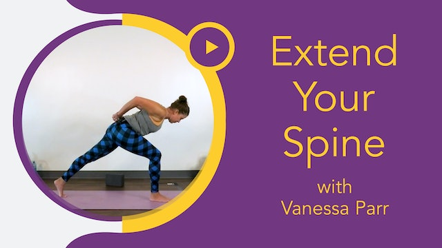 Vanessa : Aligned Flow - Extend Your Spine