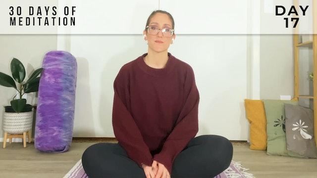30 Days of Meditation - Day 17