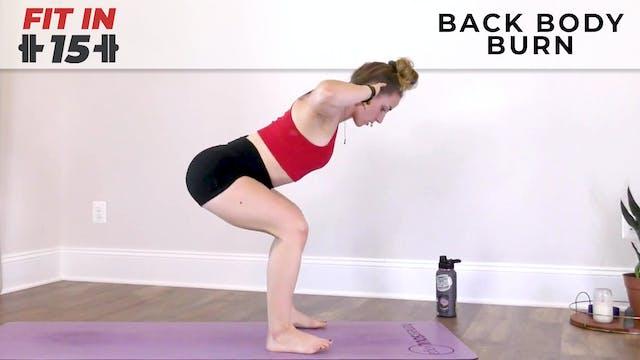 Jess : Fit In 15 - Back Body Burn