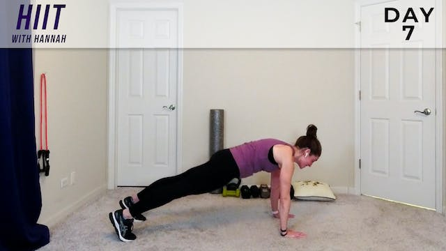 Hannah - HIIT With Hannah -  Day 7