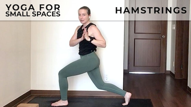 Evelyn at Home:  Yoga For Small Spaces - Hamstrings
