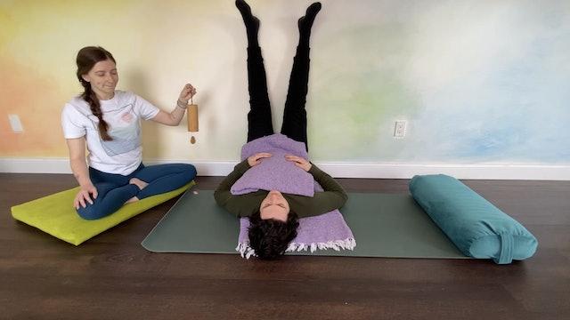Calm + Comfort Restorative Yoga with Leslie