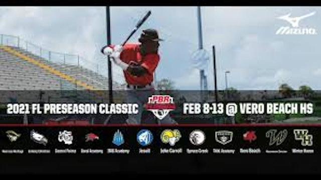2021 PBR Florida Preseason Classic - Day 1 - Game 1