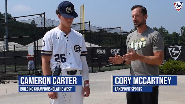 Arkansas-bound Cameron Carter on tool he's working to improve, swing mechanics