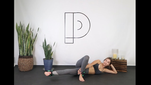 Pilates Booty Level 1-2  *ankle weights optional (30 min)