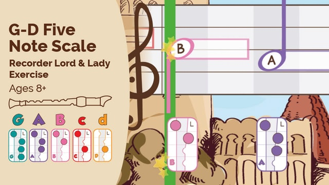 G to D Five Note Scale (Lord & Lady -- Recorder Prodigies -- Exercise)