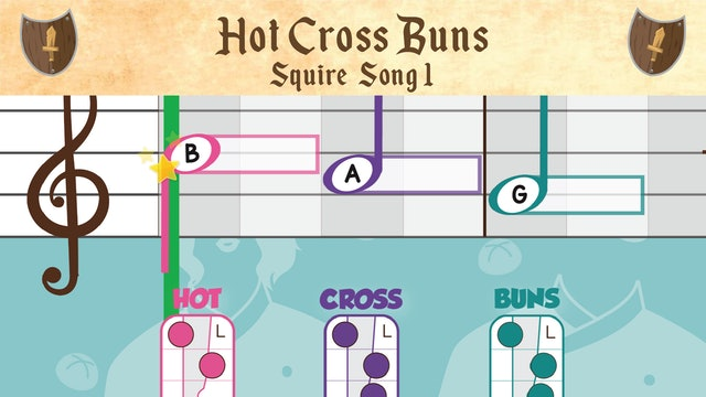 Hot Cross Buns (Squire -- Recorder Prodigies -- Song 1)