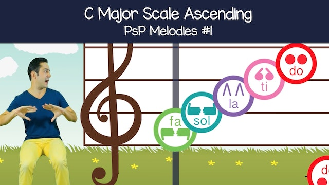 C Major Scale Ascending (PsP Melodies #1)