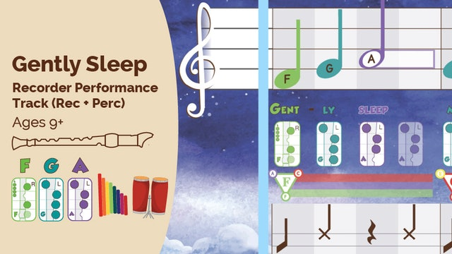 Gently Sleep F Maj - Recorder - Dragon