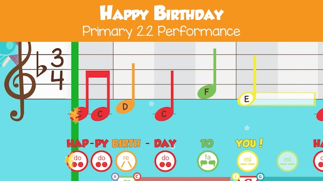 Happy Birthday (Performance -- Primary 2.2.6)
