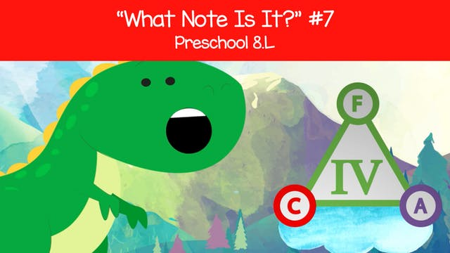 What Note Is It - G A B (Preschool 8.L)