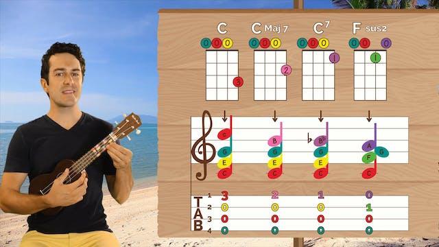 Ukulele Lesson #11 - C, CM7, C7 Chord...