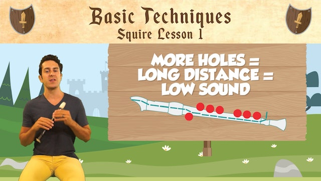 Basic Techniques (Squire -- Recorder Prodigies -- Lesson 1)
