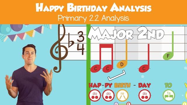Happy Birthday (Analysis -- Primary 2.2.5)