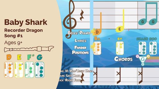 Baby Shark - Recorder Performance Track