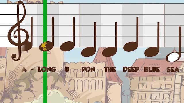 Merrily We Roll Along CDE B&W (King & Queen -- Recorder Prodigies -- Song 3)