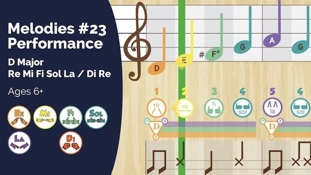 D Major Performance Track (PsP Melodies #23)