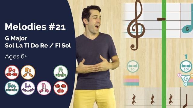 G Major 6 Note Exercise (PsP Melodies #21 Part II)