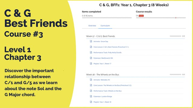 Teach Mode Course 3: C & G, Best Friends