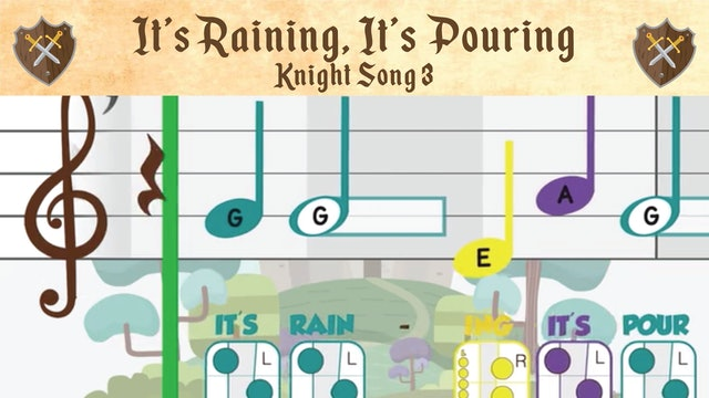 It's Raining It's Pouring  (Knight -- Recorder Prodigies -- Song 3)
