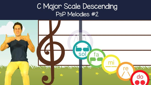 C Major Scale Descending (PsP Melodie...