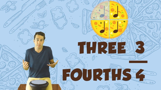 Pizza Rhythms (Lesson Part II-Fractions -- Primary 1.6.2)