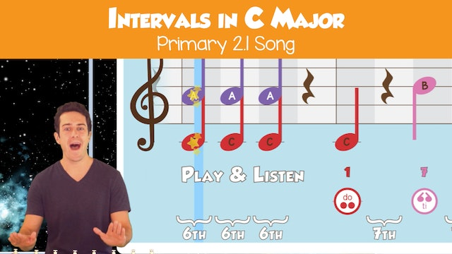 Intervals in C Major (Song -- Primary 2.1.3)