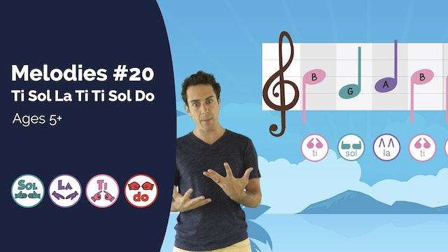 Ti Sol La Ti Ti Sol Do (PsP Melodies #20)