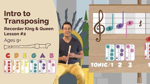 Introduction to Transposing (King & Queen -- Recorder Prodigies -- Lesson 2)