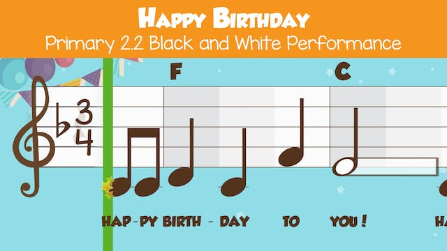 Happy Birthday  Performance B&W -- Pr...
