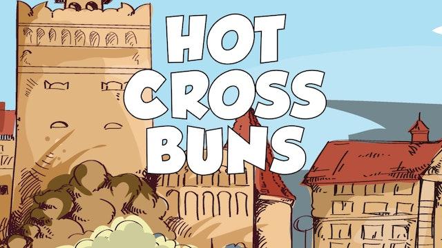 Hot Cross Buns CDE B&W (King & Queen -- Recorder Prodigies -- Song 1)