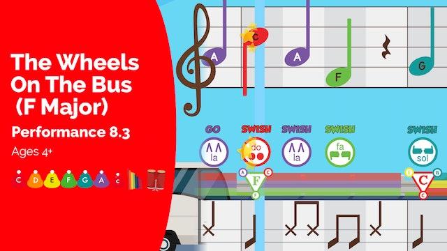 The Wheels on the Bus (F Major) - C Major Songs - Performance Prodigies