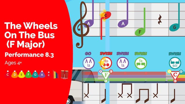 The Wheels on the Bus (F Major) - C M...