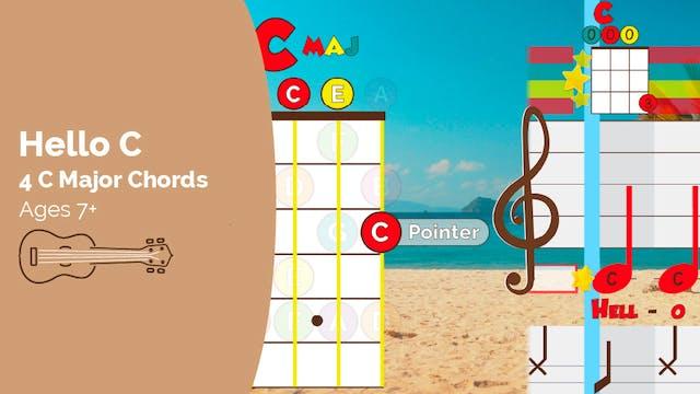 Ukulele Track - Hello C (4 C Chords)