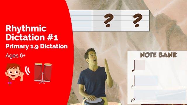 Rhythmic Dictation #1  (Assessment --...