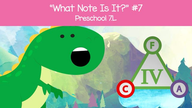 What Note Is It - F A c (Preschool 7.L)
