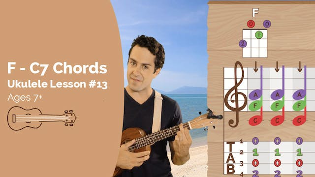Ukulele Lesson #13 - F to C7