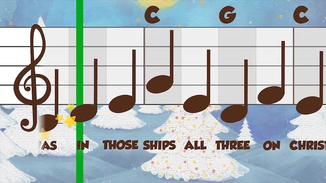 I Saw Three Ships Black & White (Perf...