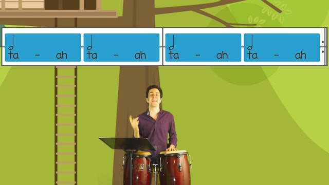 Whole and Half Notes (Kodaly Lesson #1 -- Rhythm Tree)