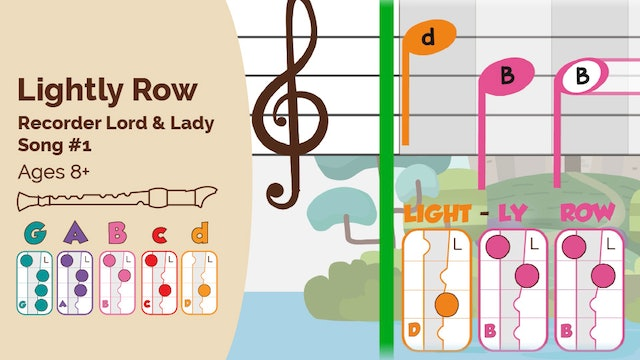 Lightly Row (Lord & Lady -- Recorder Prodigies -- Song 1)