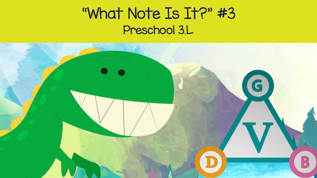 What Note Is It - G B D (Preschool 3.L)