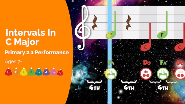 Intervals in C Major (Performance -- Primary 2.1.4)