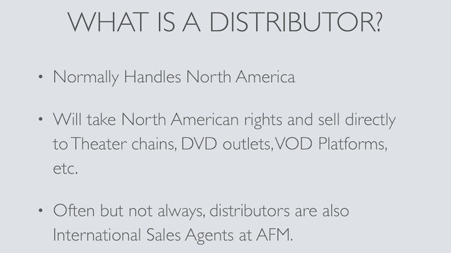 Part1-What's the difference between a distributor and a sales agent?