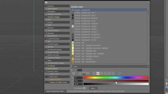 Cinema 4D Preferences