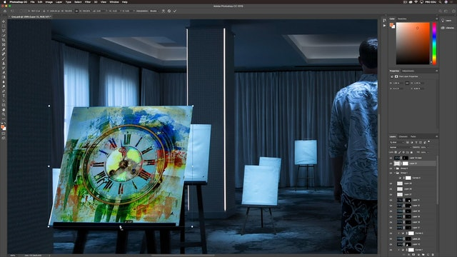 Photoshop-Clock Composite & Assignment